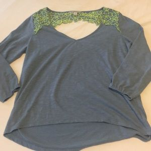 American eagle top with cut out back